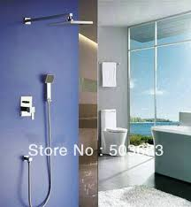 New Shower Faucet Wholesale New Bathroom Rainfall Shower Faucet Head Set Wall