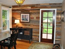salvaged wood interior walls insteading