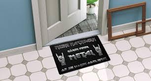 design fussmatten fussmatte wacken rock musik hardrock heavymetal metal abtreter