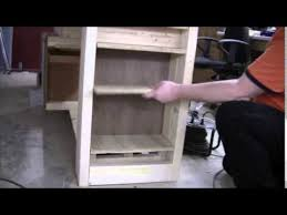 add a drawer under a table add shelves under the workbench youtube