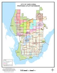 Florida Flood Zone Map by City Of Cape Coral Fl Proposed Utility Expansion Map For Water And