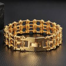 stainless steel gold plated bracelet images 78g 225x18mm tanishq jewellery bracelet designs stainless steel jpg