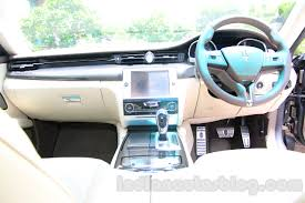 2015 maserati quattroporte interior maserati quattroporte dashboard india reveal indian autos blog