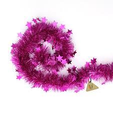 pink garland pink tinsel garland christmas tree decorations