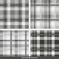 tartan pattern monochrome tartan patterns collection vector free download