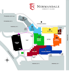 Portland State University Campus Map by Parking Normandale Community College
