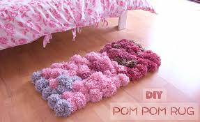 How To Crochet A Rug Out Of Yarn Diy Pom Pom Rug Bedroom Decor Tutorial Youtube