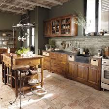 cuisine maison bois meuble bas de cuisine en bois de sheesham massif l 60 cm lubé