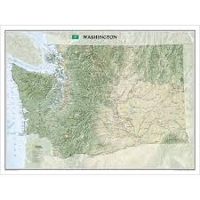 Washington State Maps by Washington State Wall Map National Geographic Store