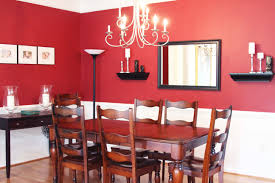 great traditional red dining room with teak wood dining table sets