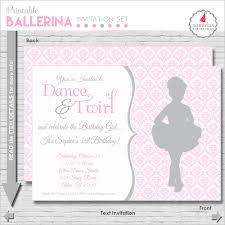 ballet birthday invitation ballerina party invitation