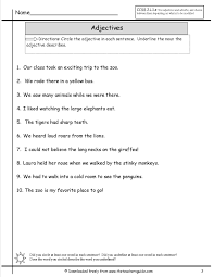 Resume Adjectives Adjective Worksheet Elementary For Your Resume With Adjective