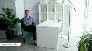 16 Cube Bookcase White Hudson 16 Cube Shelf With Desk White Product Review Video