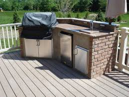 Outdoor Kitchen Furniture Update Your Deck With An Outdoor Kitchen Amazing Deck