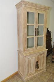 bleached bakers kitchen pantry cabinet solid teak wood beach