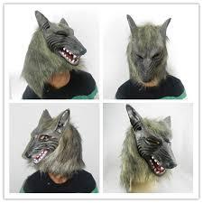 Wolfman Halloween Costume Faux Werewolf Mask Wolfman Masks Latex Costume Prop Halloween