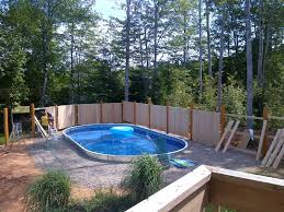 semi inground pools ideas semi inground pools with pavers bround b