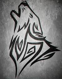 how to draw a howling tribal wolf by tattoos pop