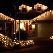 outdoor icicle christmas lights walmart led icicle lights warm white dtavares com