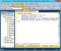 sql server create table primary key how to create a table in sql server using a query database guide