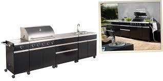 cuisine d ext駻ieur cuisine extérieur garden noir barbecue avec plan de travail