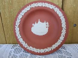 terracotta jasperware mine plate made in england jasperware with