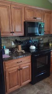 Golden Oak Kitchen Cabinets by Golden Oak Cabinets Enhanced With Mahogany Gel Stain Gel Stain