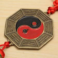 bagua mirror yin yang feng shui lucky blessing chinese knot car