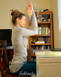 Desk Yoga Poses Yoga At Work Yoga Poses You Can Do At Your Desk Sublimely Fit