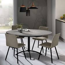 trendy table de cuisine ronde stratifie extensible laser chaise et