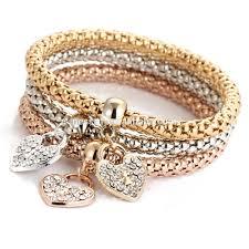 rose gold hand bracelet images Fashion heart fancy gold hand chain bracelet design for girls jpg