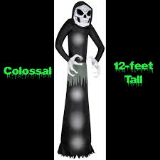 halloween blow ups clearance airblown wicked grim reaper inflatable halloween decoration huge