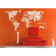 large world map wall decal sticker world map wall sticker