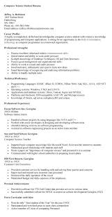 sle resume for fresh graduates accounting software resume ms in computer science exle template