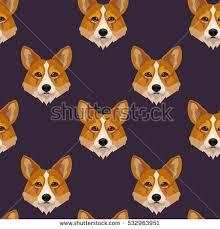 corgi wrapping paper vector dog breed corgi stock vector 532963951