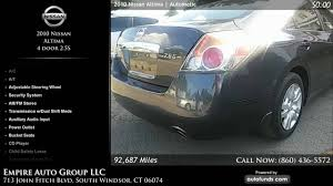 nissan altima for sale windsor used 2010 nissan altima empire auto group llc south windsor ct