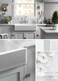 white on white kitchen kohler