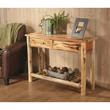 accent sofa table castlecreek log sofa table 675422 living room at sportsman s guide