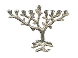 menorah tree of modern tree of hanukkah menorah hammered design