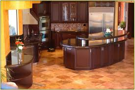 granite countertop wood stained cabinets hotpoint integrated