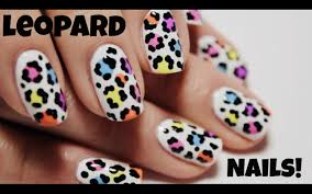 rainbow leopard print nail art tutorial the nail trail youtube