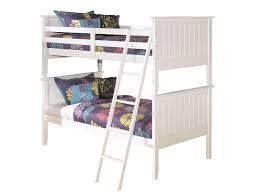 slumberland lulu collection white twin twin bunk bed