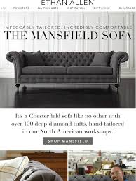 Ethan Allen Chesterfield Sofa Ethan Allen Our New Mansfield Sofa On Sale Now Milled