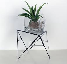 trendy modern geometric plant or candle stand terrarium tabletop