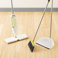 Best Broom For Laminate Floors Casabella Lime Stationary Upright Sweep Set The Container Store