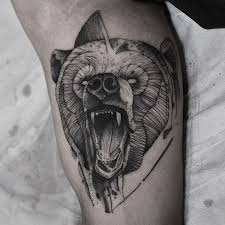 bear tattoo designs for men pictures to pin on pinterest tattooskid