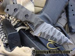 tom clarke tactical knives made out of 3v steel