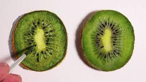 realism challenge 2 how to draw a kiwi fruit youtube