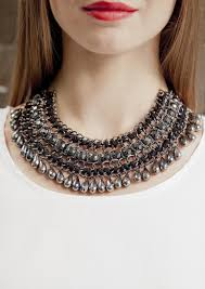 black neck necklace images Vintage inspired black stone statement necklace happiness boutique jpg