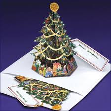 pop up tree gift card ornament pop up